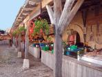 the medieval market of La Flotte
