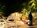 dinner in the garden with your own private chef