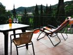 Large balcony is perfect for enjoying in Dalmatian sunrise...