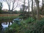 Pond and walkway
