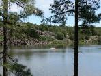 Fool Hollow Lake 1.5 miles away from cabin. (Discount on boat rentals for our guests)!