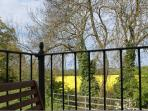 Balcony Overlooking Malvern Hills and Adjacent Farm land