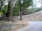 Castle's walls around the corner