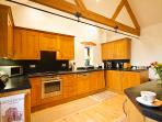 Spacious well equipped kitchen, perfect for self catering.