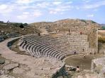 The greek theatre in Segesta archeological area, km 17