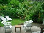 Caraïbes vu sur le jardin
