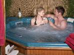 Hot Tub on balcony- an added luxury with our Plus Lodges