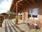 Large veranda overlooking private putting green