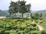 The gardens of Marqueyssac with its wonderful topiary and cliff top walks through the trees.
