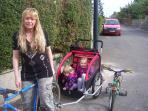 Mountain bikes and bike buggie for your use