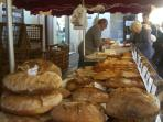 Bread stall in a local market