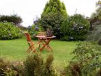 Area of the garden reserved for holiday makers' sole use...