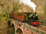 The famous Talyllyn Railway is a 5 min walk