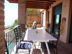One of three terraces all offering stunning views of La Herradura Bay - a must see!