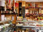 The Larder, just a 5 min stroll away,has a great array of deli food, plus freshly cooked hot dishes.