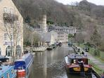 Take an afternoon tea barge cruise from Hebden Bridge marina.