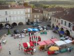 Valence square market day from Church belfry