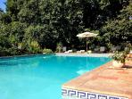 Castle ermitage de Combas in Servian main heated pool