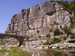 Pont sur l'Ardèche à Balazuc