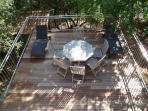 Rear terrace - has both sun and shade