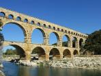 The Pont du Gard - Magnificent Roman Aqueduct very close by. Great for swimming and cannoing