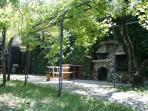 Terrace with pizza oven and barbecue area Villa Vesuvio