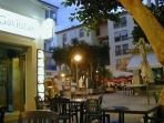 Moraira Town at night