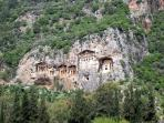 The Dalyan Lycian rock tombs