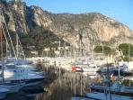 The beautiful Port of Beaulieu Sur Mer