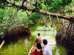 Canoe trip on the Cienaga Grande de Santa Marta, available just steps away from the house