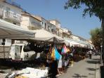 bustling friday market at  Casoli
