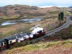 Ffestiniog railway - alongside Tanygrisiau Lake, a 2 minute walk from cottage