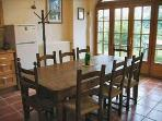 Dining Area with antique farmhouse table