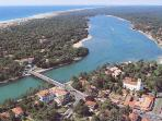 Hossegor town, lake and beach