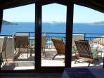 Turquoise seas await, the view from Sahane's private wraparound sun terrace