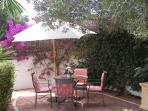 Secluded terrace within rear garden