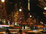 The street at christmas