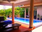 A view across the Private Pool towards the Master Bedrooom.