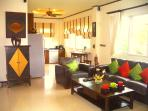 The open plan Kitchen/Lounge is extremely well equipped