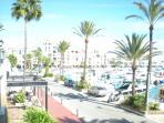 The marina at Puerto de la Duquesa 5 min walk away