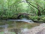Hisley Bridge on the River Bovey is just a 20 minute walk from Mill Barn