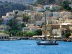 Symi greek island view