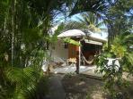 terrasse du bungalow Cajou