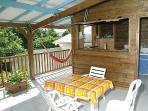 terrasse du bungalow Carambole