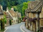 A typical Cotswolds street