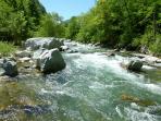 River Tanaro with walking path