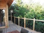la terrasse de la cabane du trappeur