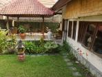 Traditional Bali Yoga area and breakfast hut with fish and lilly pond...............................