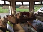 Plenty of comfy seating and great for a warm summers day.