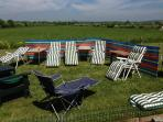 Plenty of sunloungers for summer days